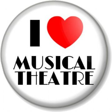 I Love / Heart MUSICAL THEATRE Pinback Button Badge Show Tunes Music Musicals